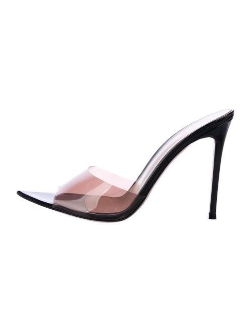 Gianvito Rossi Elle PVC Mules Clear