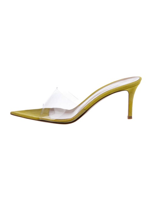 Gianvito Rossi PVC Slide Sandals w/ Tags Clear