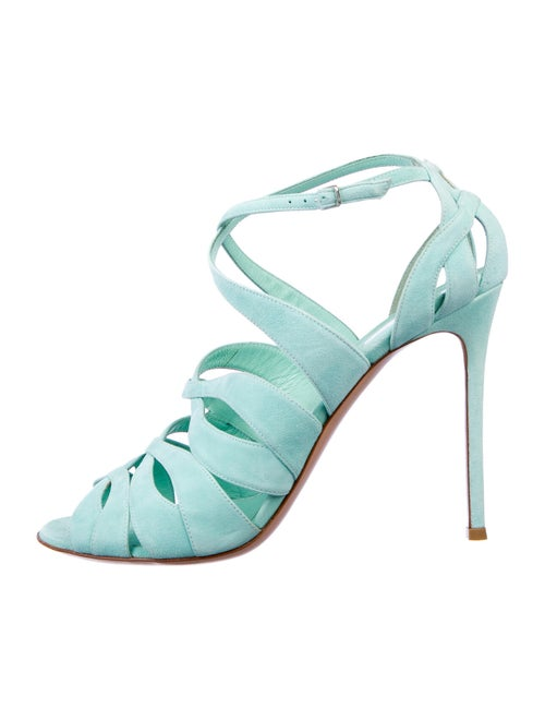 Gianvito Rossi Suede Sandals Green
