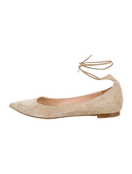 Gianvito Rossi Suede Ballet Flats