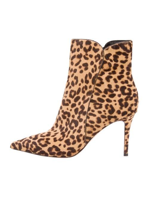 Gianvito Rossi Ponyhair Animal Print Boots