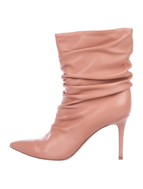 Gianvito Rossi Cecile Leather Boots Pink