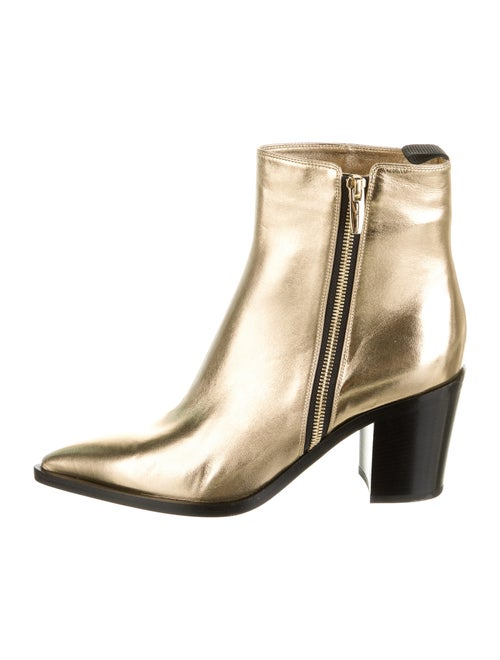 Gianvito Rossi Leather Boots Gold