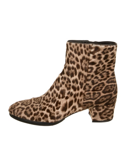 Gianvito Rossi Calf Hair Animal Print Boots