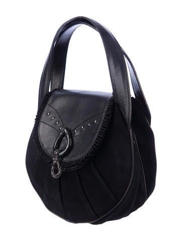 Suede Handle Bag