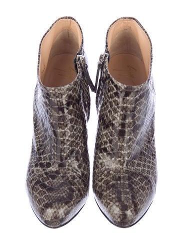 Snakeskin Booties