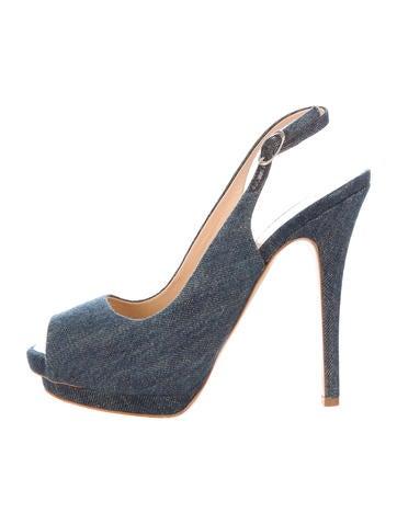 Denim Slingback Sandals