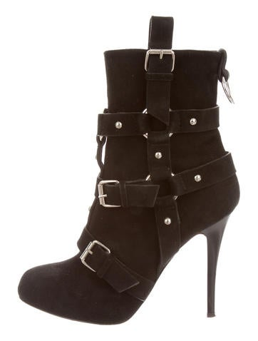 Buckle Embellished Ankle Boots