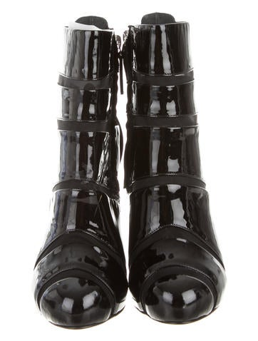 Patent Leather Ankle Boots w/ Tags