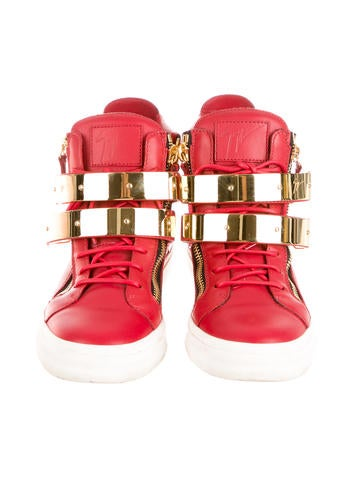 Double Buckle High-Top Sneakers