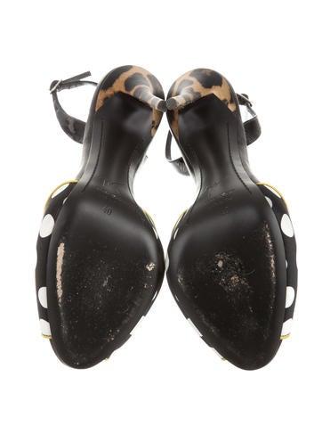 Polka Dot Slingback Sandals