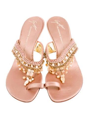 Beaded Slide Sandals