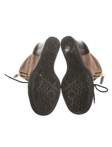 Suede Wedge Sneakers