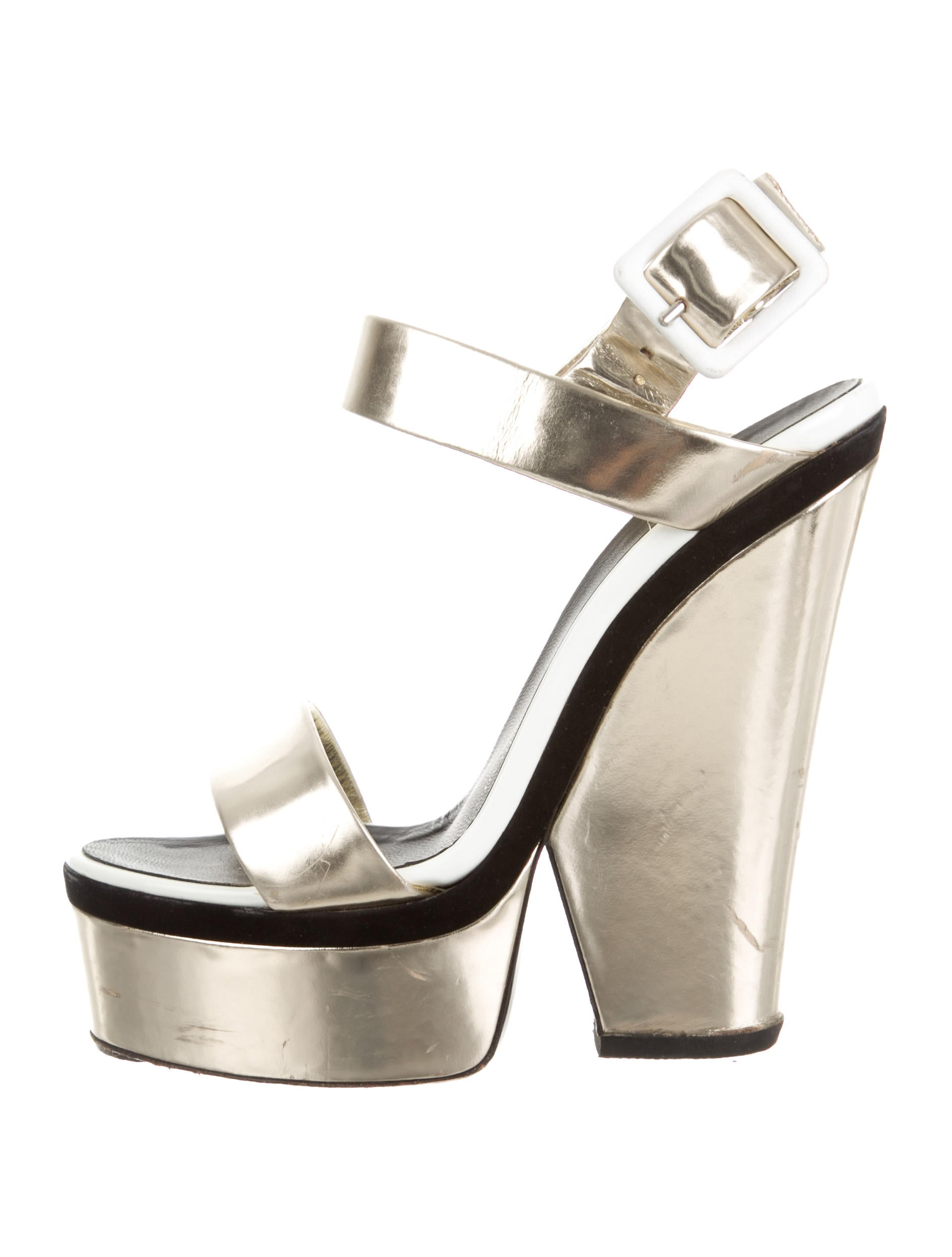 giuseppe zanotti metallic platform sandals shoes