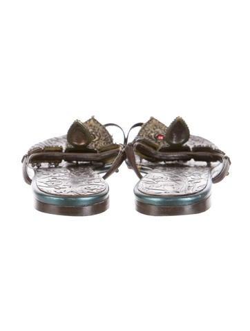 Embellished Toe-Ring Sandals