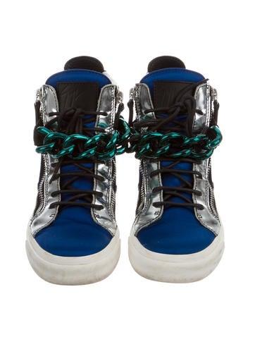 Satin London High-Top Sneakers
