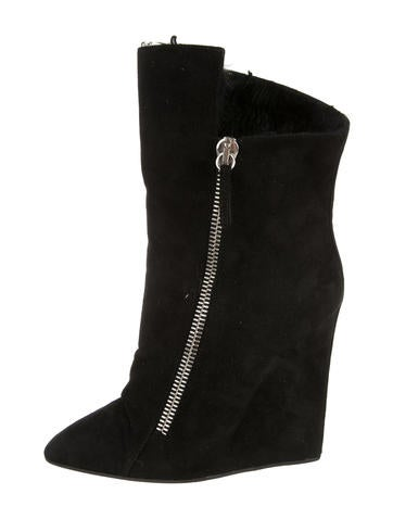 Suede Wedge Ankle Boots