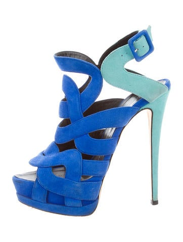 Suede Sharon Colorblock Sandals