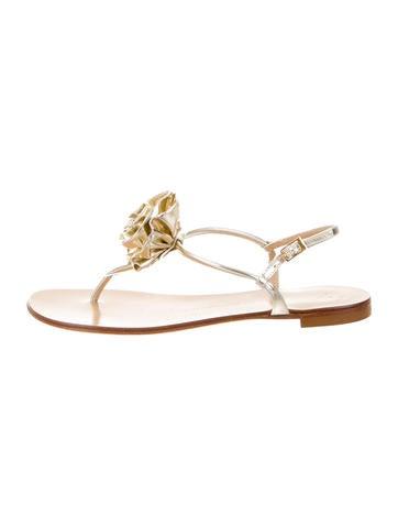 Floral Metallic Sandals