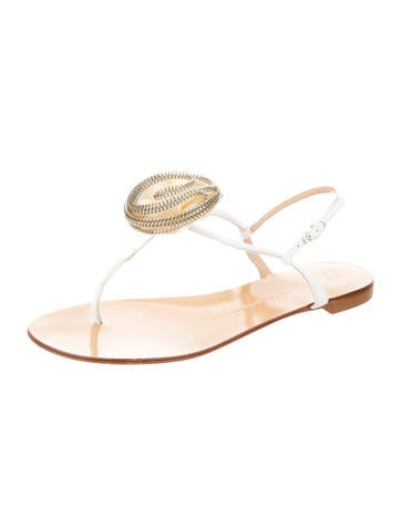 Round-Toe Embellished Sandals