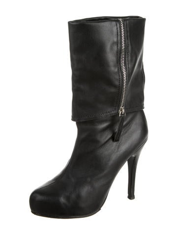 Leather Fold-Over Booties
