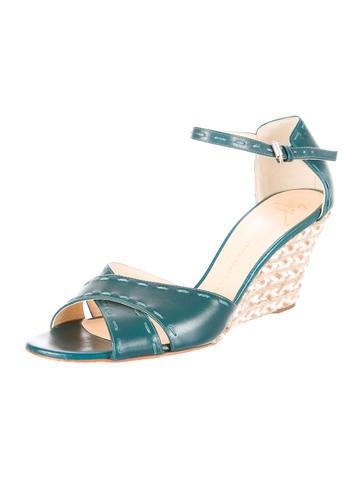 Jute-Trimmed Sandal Wedges