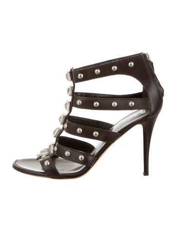 Studded Round-Toe Sandals