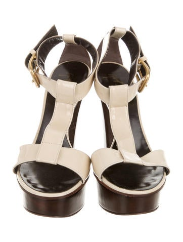 Patent Leather Platform Sandals