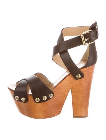 Giuseppe Zanotti Leather Platform Sandals None