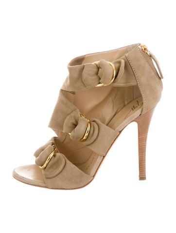 Suede Multistrap Sandals