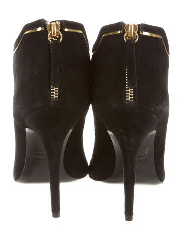 Suede Pointed-Toe Ankle Booties