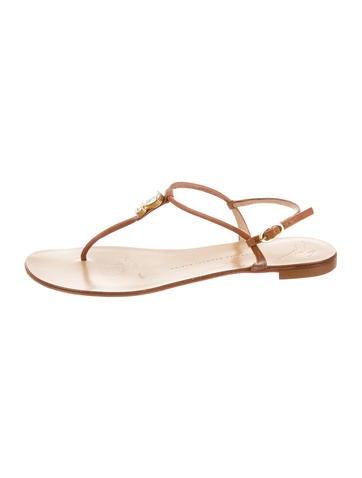 Jewel Embellished Leather Sandals