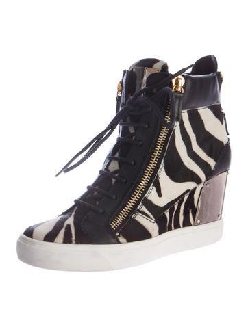 Lorenz Ponyhair Wedge Sneakers