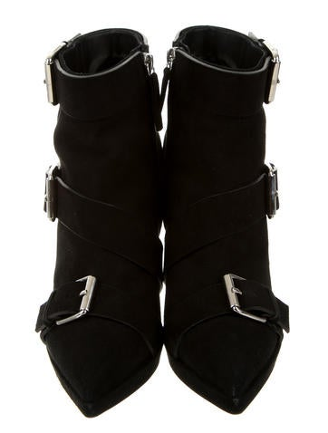Buckle Embellished Ankle Booties