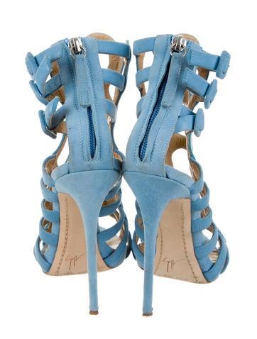Suede Cage Sandals