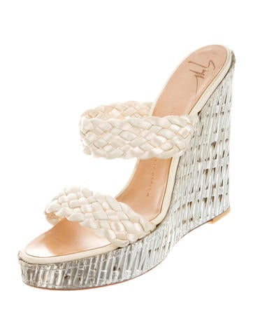 Metallic Slide Sandals