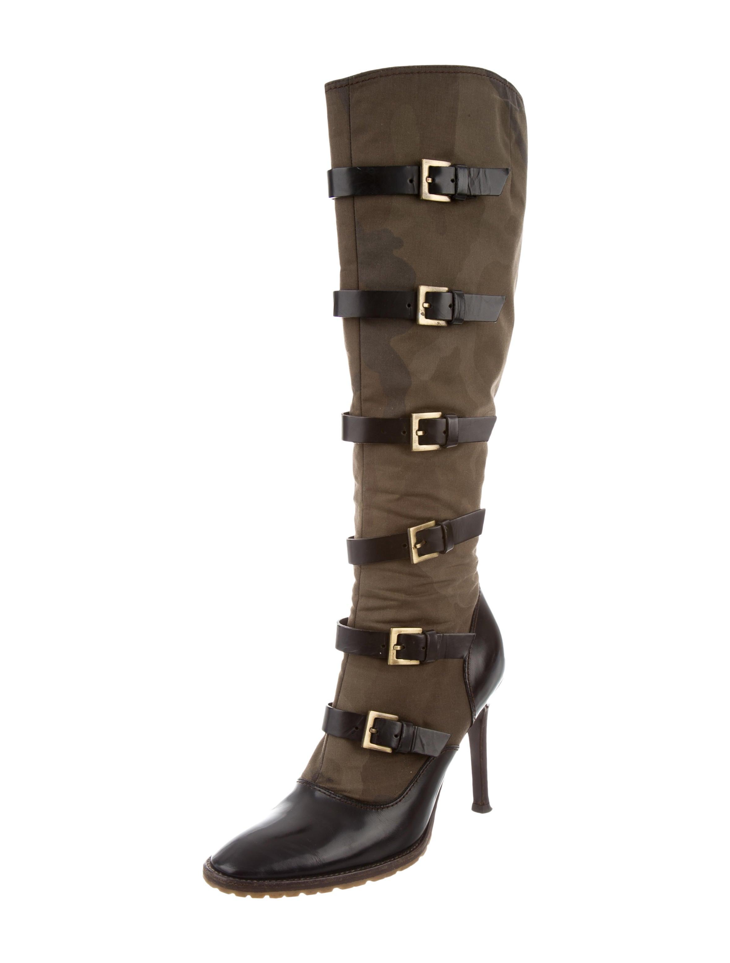 giuseppe zanotti buckled knee high boots shoes