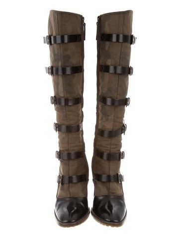 Buckled Knee-High Boots