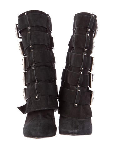 Suede Fold-Over Ankle Boots