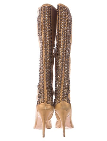 Embellished Knee-High Boots