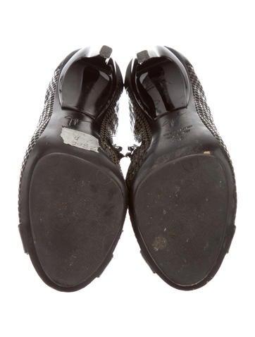 Mesh Peep-Toe Booties