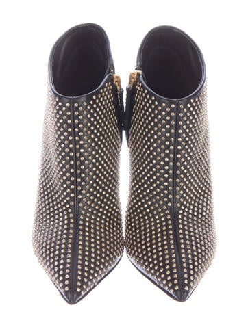 Studded Pointed-Toe Booties