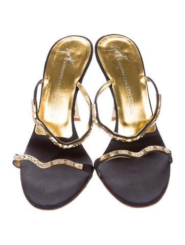 Emebllished Slide Sandals