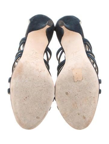 Buckle-Embellished Cage Sandals