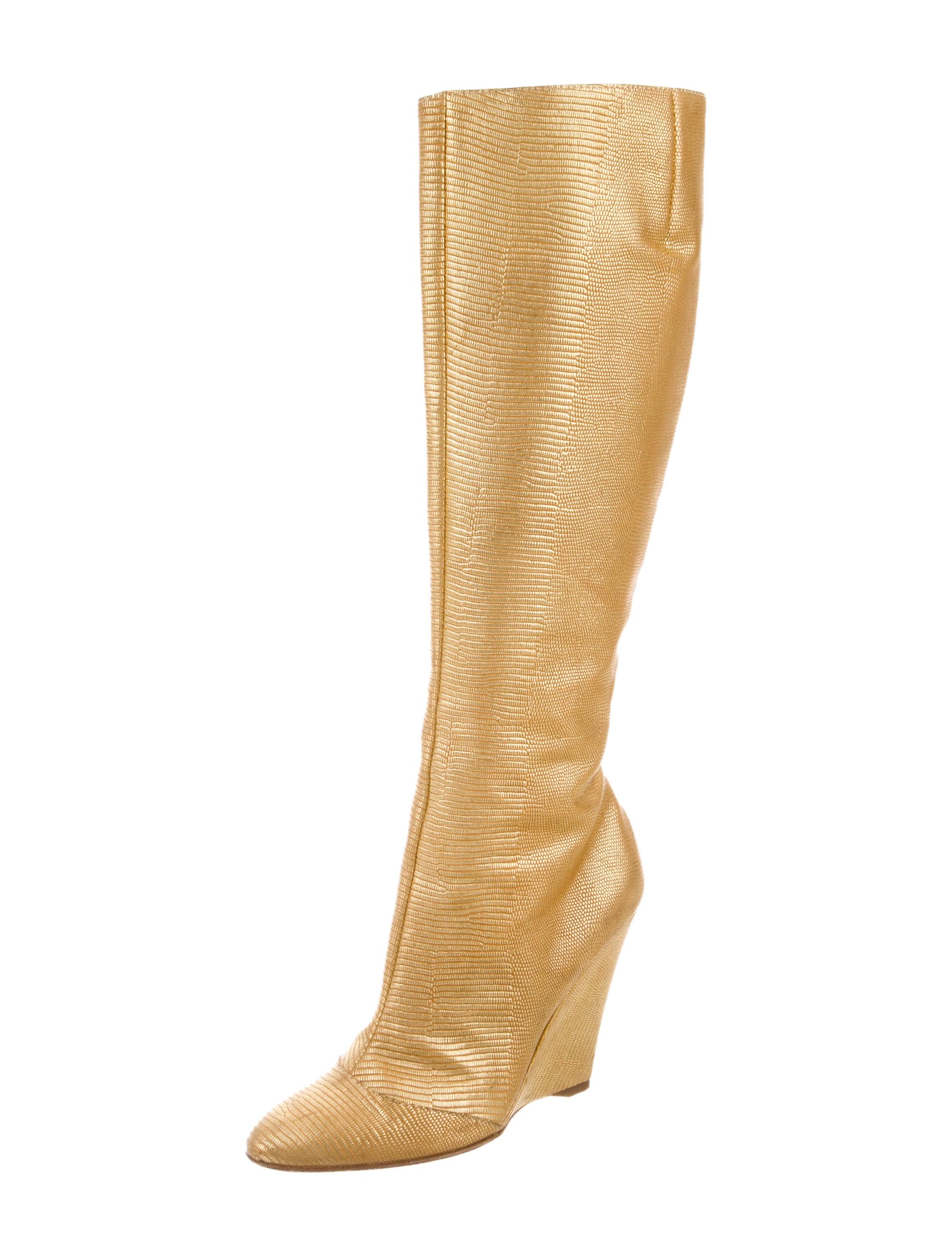 giuseppe zanotti metallic knee high boots shoes