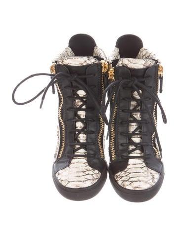 Embossed Wedge Sneakers