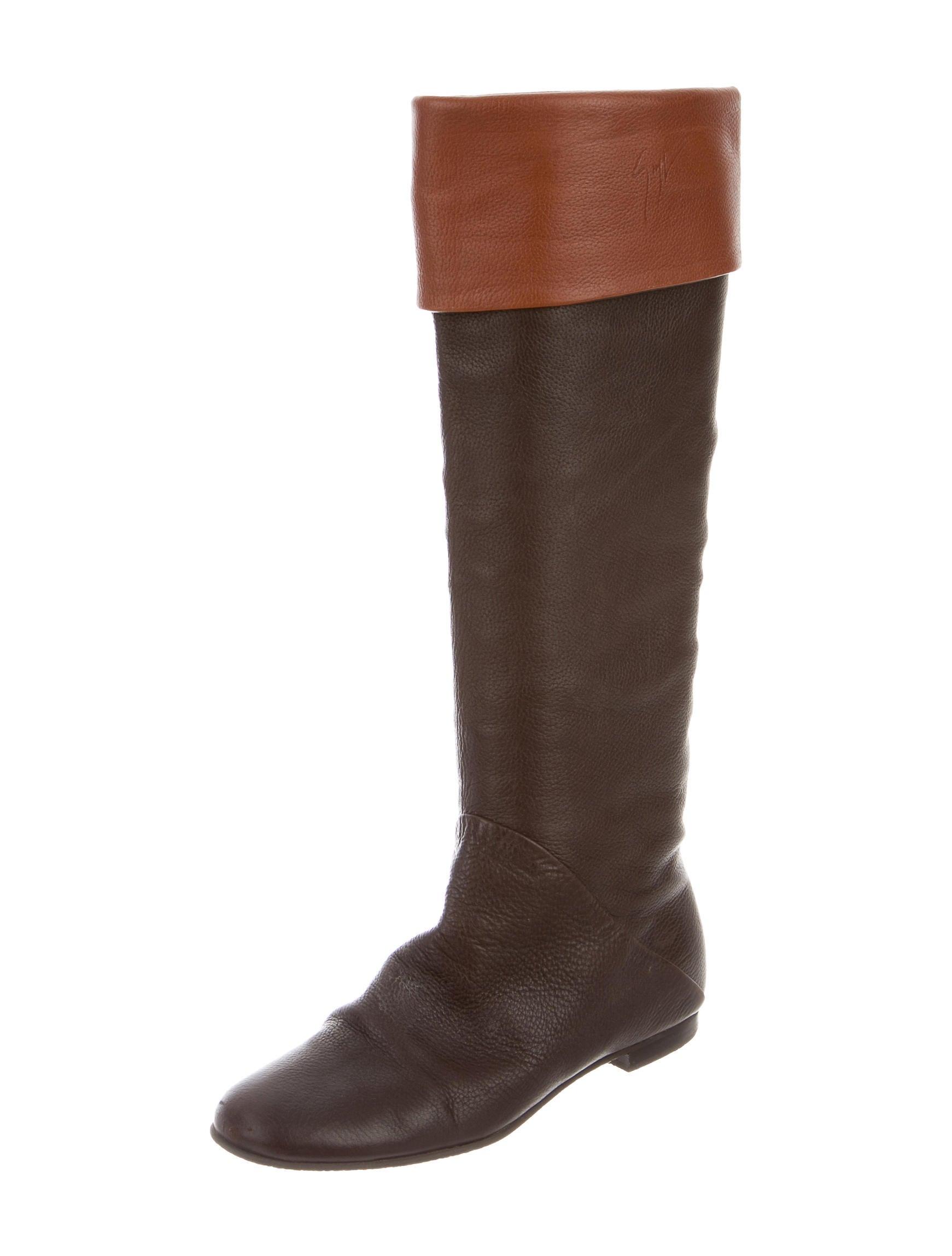 giuseppe zanotti pebbled knee high boots shoes
