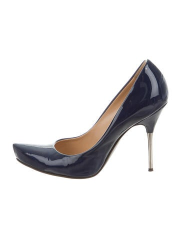 Giuseppe Zanotti Patent Leather Round-Toe Pumps