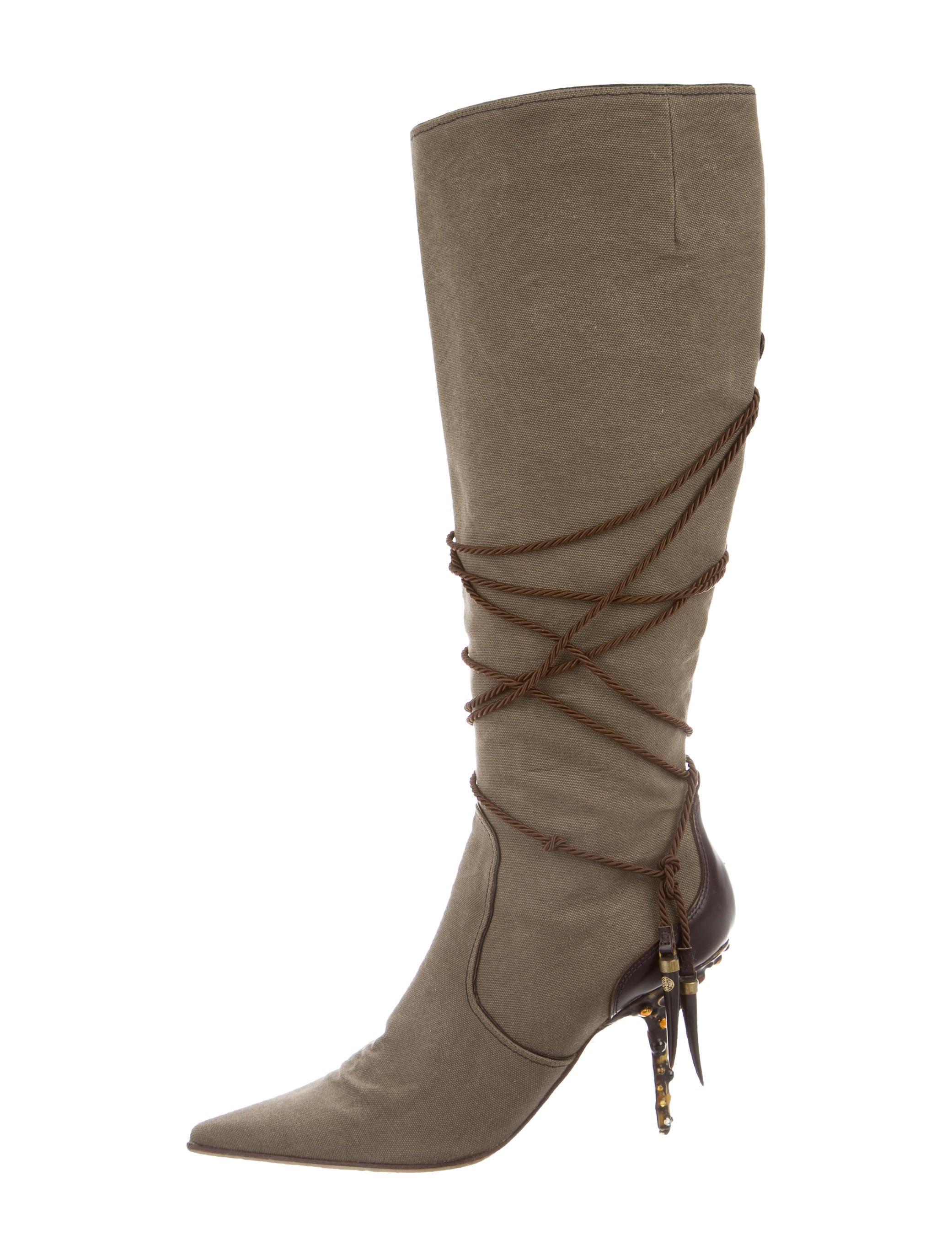 giuseppe zanotti canvas knee high boots shoes giu31736