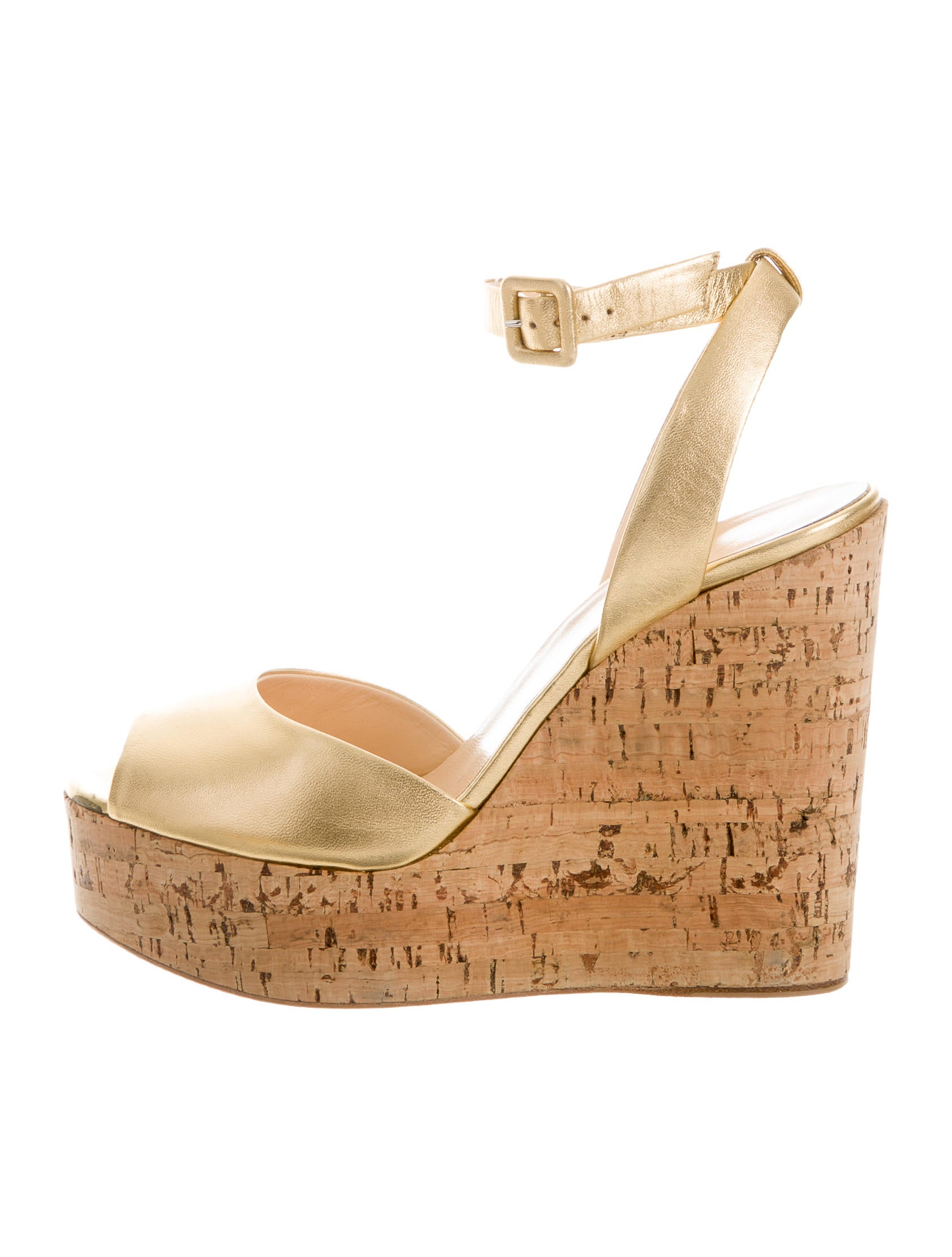 giuseppe zanotti metallic wedge sandals shoes giu31842